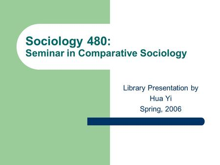 comparative studies in sociology Comparative studies and world development emphasis requirements  news ryan finnigan's ajs article with david brady and sabine hubgen was named the winner of.