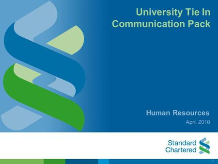 1 University Tie In Communication Pack Human Resources April 2010.
