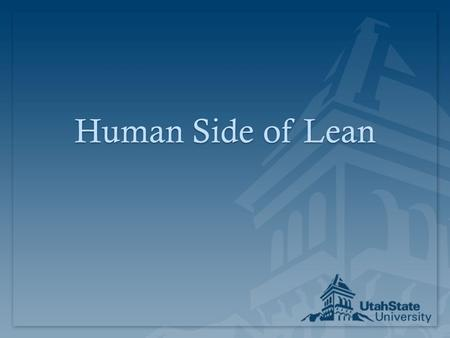 Human Side of Lean. People Aspect of 4Ps?People Aspect of 4Ps? Philosophy Process Problem Solving People and Partners.