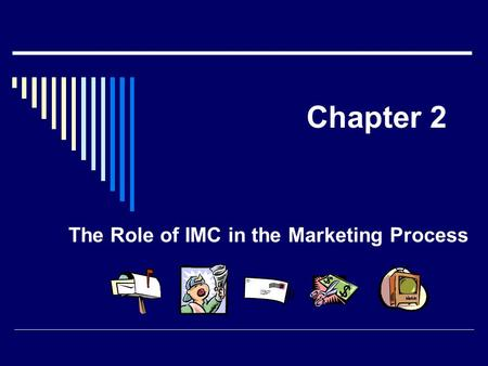Chapter 2 The Role of IMC in the Marketing Process.