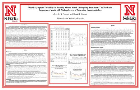 Method Introduction Results Discussion Weekly Symptom Variability in Sexually Abused Youth Undergoing Treatment: The Needs and Responses of Youth with.