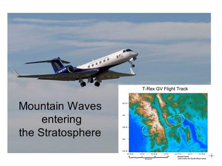 Mountain Waves entering the Stratosphere. Mountain Waves entering the Stratosphere: New aircraft data analysis techniques from T-Rex Ronald B. Smith,