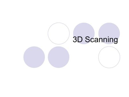 3D Scanning. How can we get the form? Projection.