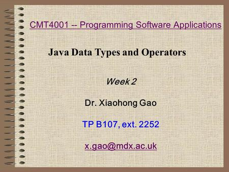 CMT Programming Software Applications