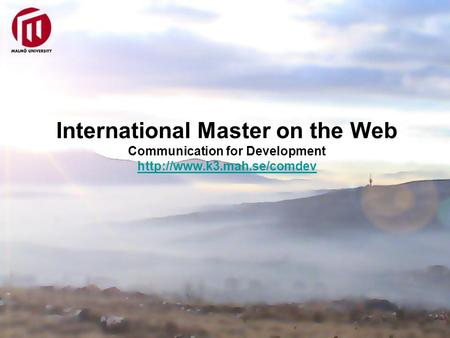 International Master on the Web Communication for Development