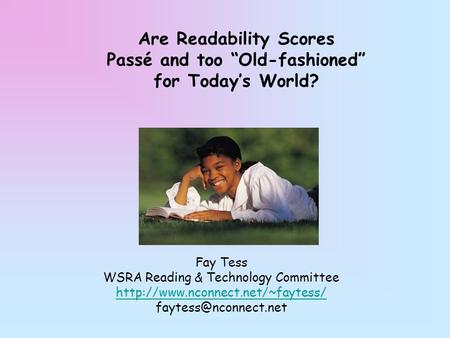 WSRA Reading & Technology Committee