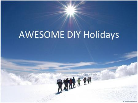 AWESOME DIY Holidays. Travel What do you hope to take away from this Sabbatical? * Be a professional tour guide? * Open a tour company? How often do you.