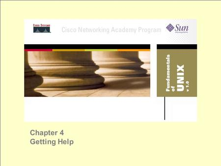 Chapter 4 Getting Help. Using CDE Help Help Manager – primary help tool SunSolve Online – Web-based online help from Sun Solaris Support – Web-based Sun.