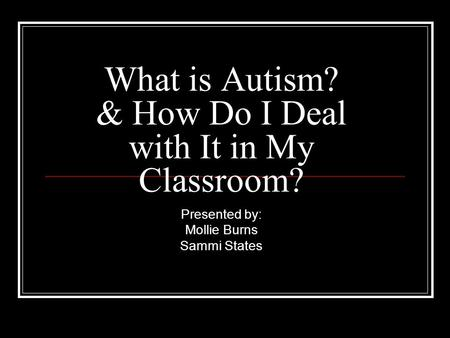 What Are the Types of Autism Spectrum Disorders?
