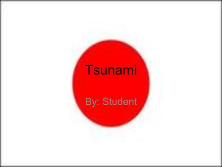 Tsunami By: Student. Japan (before) Population: 127,076,183. 10 th most populated in the world. 3 rd largest economy in the world.