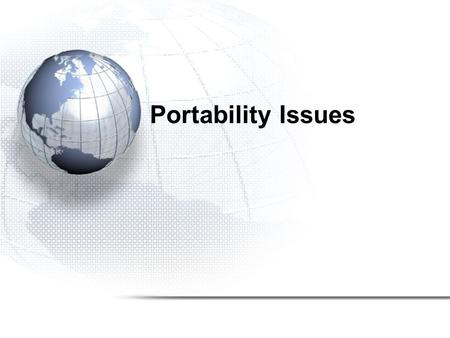 Portability Issues. The MPI standard was defined in May of 1994. This standardization effort was a response to the many incompatible versions of parallel.