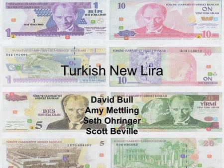 Mini case turkish lira and the purchasing power parity