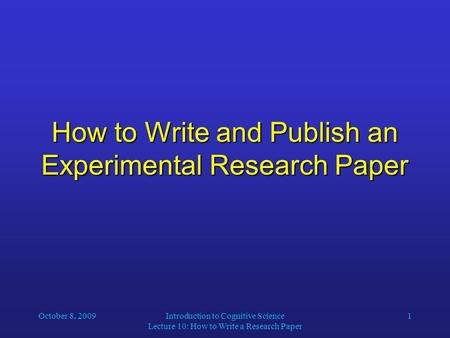 How to write an introduction to a research paper ppt