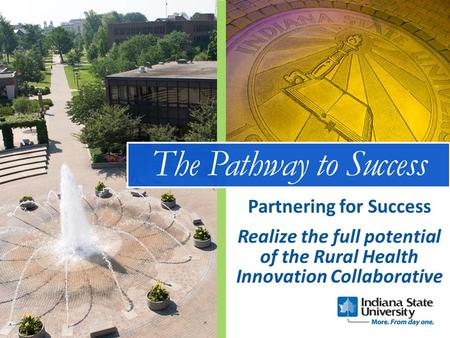 The Pathway to Success Realize the full potential of the Rural Health Innovation Collaborative Partnering for Success.