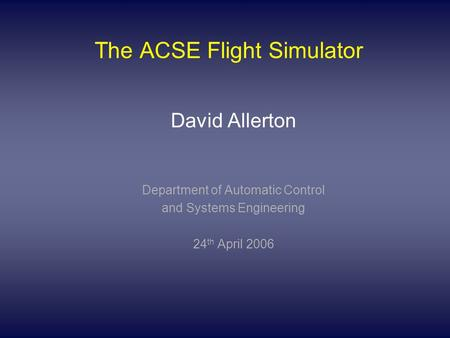 automatic flight control systems engineering essay Software systems are also used to land commercial aircraft  software intended  to bring more automation to the nation's air traffic control system,  professor of  aerospace engineering at the georgia institute of technology.