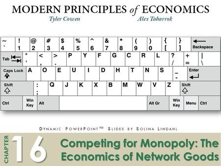 16 CHAPTER D YNAMIC P OWER P OINT ™ S LIDES BY S OLINA L INDAHL Competing for Monopoly: The Economics of Network Goods.