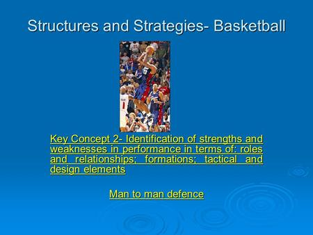 Structures and Strategies- Basketball
