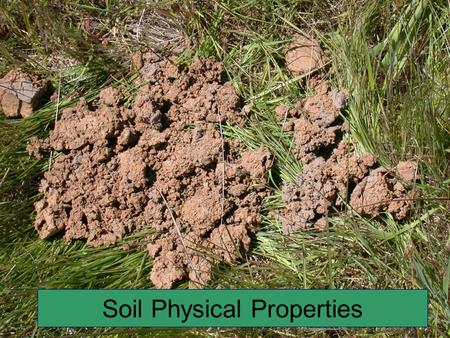 physical properties of soil pdf