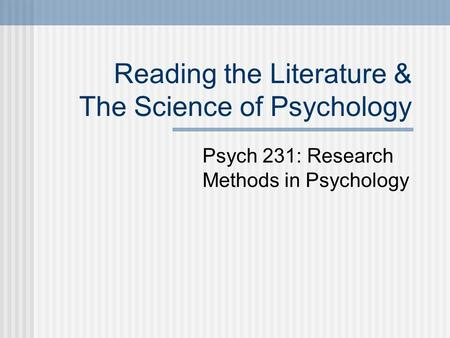 literature review assignment psychology