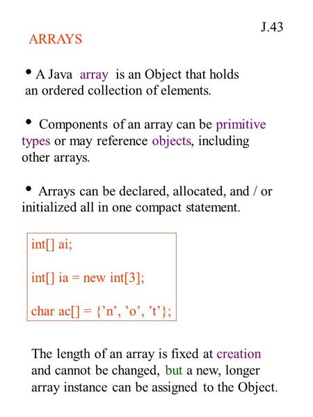 how to make an ordered array