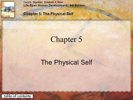 Chapter 5 The Physical Self.