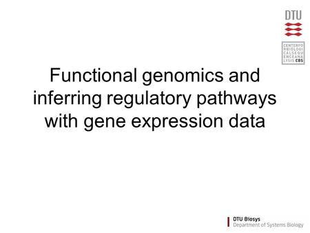 Functional genomics and inferring regulatory pathways with gene expression data.