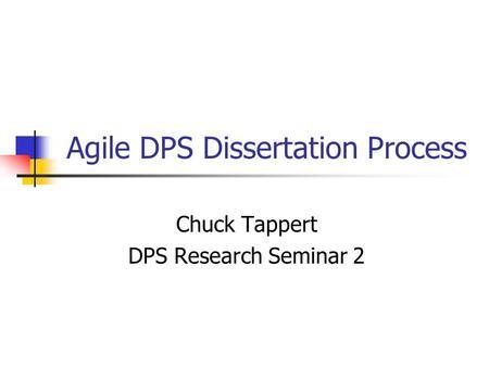 Dissertation seminar syllabus