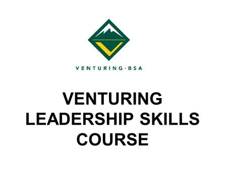 VENTURING LEADERSHIP SKILLS COURSE. Session IV: Synergism Venturing on the Moon.