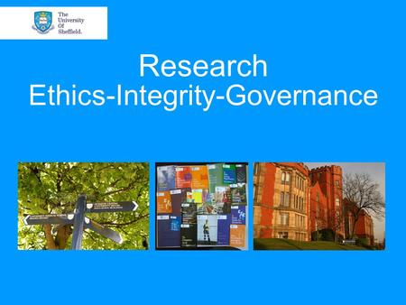 Research Ethics-Integrity-Governance. University Initiative:The Catalyst? '02 Good Research Practice Standards & Procedure to Investigate Potential Research.