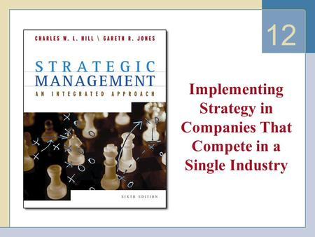12 Implementing Strategy in Companies That Compete in a Single Industry.