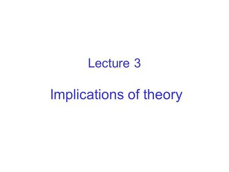 Lecture 3 Implications of theory. Mass & energy balance The standard DEB model specifies fluxes of 4 organic compounds food, faeces, stucture (growth),