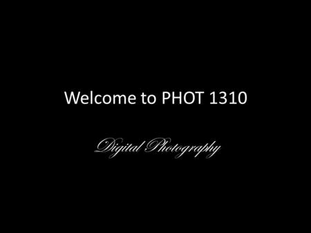 Welcome to PHOT 1310 Digital Photography. Tamika looks out a bus window. Her life revolves around her mother's drug abuse. This year, Tamika has lived.