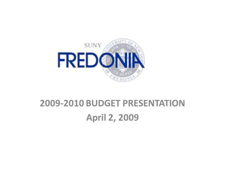 2009-2010 BUDGET PRESENTATION April 2, 2009. GOALS 1.Students have Access to Classes 2.Avoid Layoffs 3.Keep Intact: Library Acquisition Budget Department.