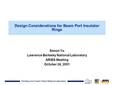 Design Considerations for Beam Port Insulator Rings