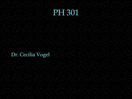 PH 301 Dr. Cecilia Vogel. Recall square well  The stationary states of infinite square well:  sinusoidal wavefunction  wavefunction crosses axis n.