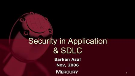 Security in Application & SDLC