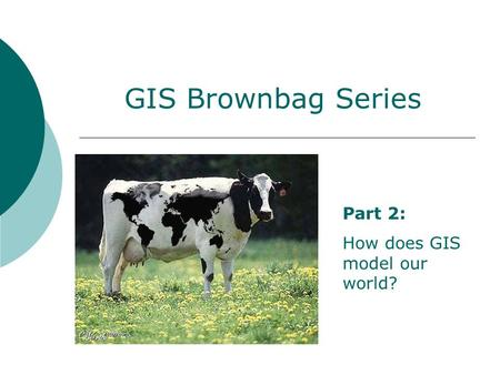 GIS Brownbag Series Part 2: How does GIS model our world?