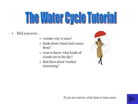The Water Cycle Tutorial