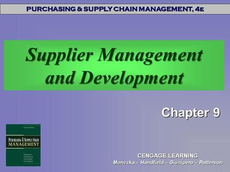 Supplier Management and Development