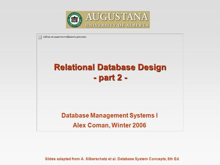 relational database management system pdf by korth
