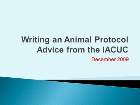 December 2009. AALAS Publication: American Association for Laboratory Animal Science.