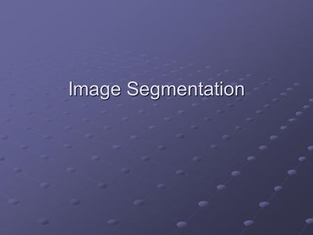 Image Segmentation. Introduction The purpose of image segmentation is to partition an image into meaningful regions with respect to a particular application.