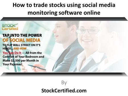 Social media trading signals