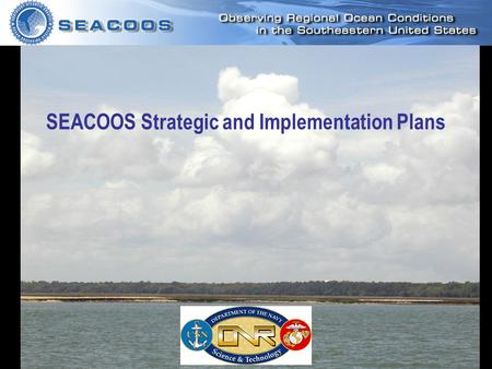 SEACOOS Fall Workshop, Nov 2004 SEACOOS Strategic and Implementation Plans.