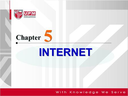 INTERNET Chapter 5 5. Objectives <strong>of</strong> this chapter: Discuss the history <strong>of</strong> the Internet Describe the <strong>types</strong> <strong>of</strong> Web sites Explain how to access and connect.