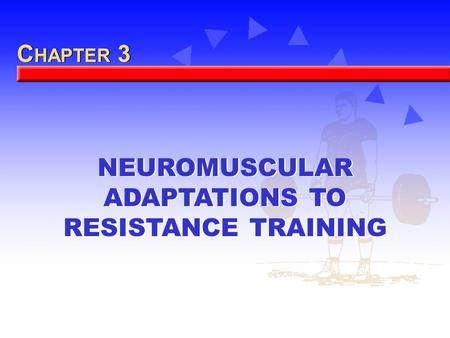 C HAPTER 3 NEUROMUSCULAR ADAPTATIONS TO RESISTANCE TRAINING.