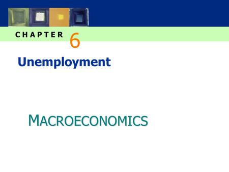 M ACROECONOMICS C H A P T E R Unemployment 6. slide 1 CHAPTER 6 Unemployment In this chapter, you will learn… …about the natural rate of unemployment: