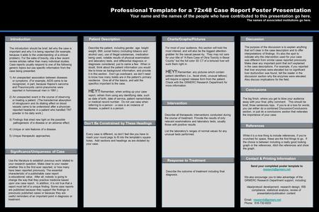 Poster Templates By: Professional Template For A 60X36 Case Report