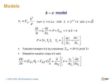 1 - THMT 6, 2009 - H&FF Simulations for energies Models.