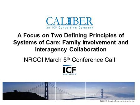 NRCOI March 5th Conference Call